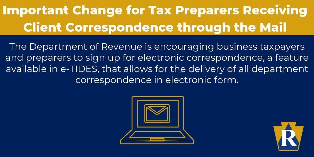 Important Change for Tax Preparers Receiving Client Correspondence through the Mail