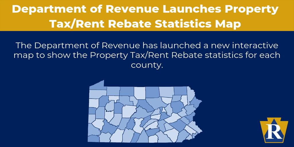 Department of Revenue Launches Property Tax/Rent Rebate Statistics Map