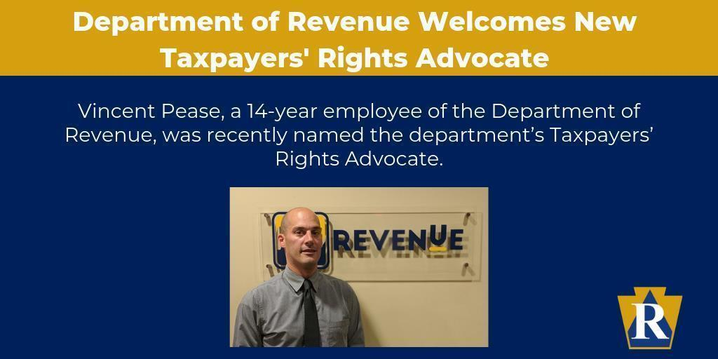 Department of Revenue Welcomes New Taxpayers' Rights Advocate