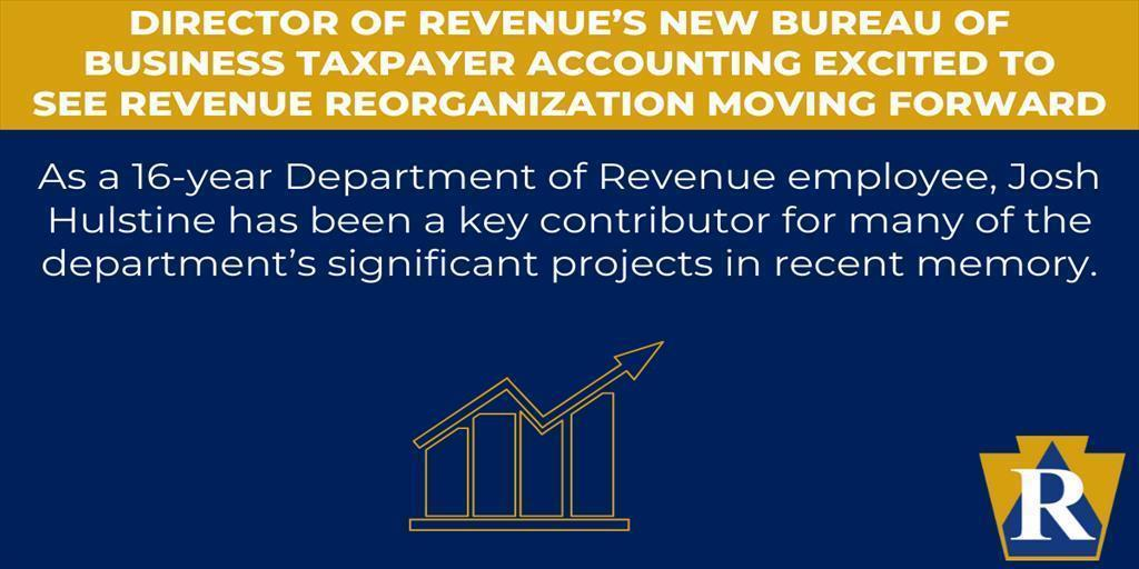 Director Of Revenue's New Bureau Of Business Taxpayer Accounting Excited To See Revenue Reorganization Moving Forward