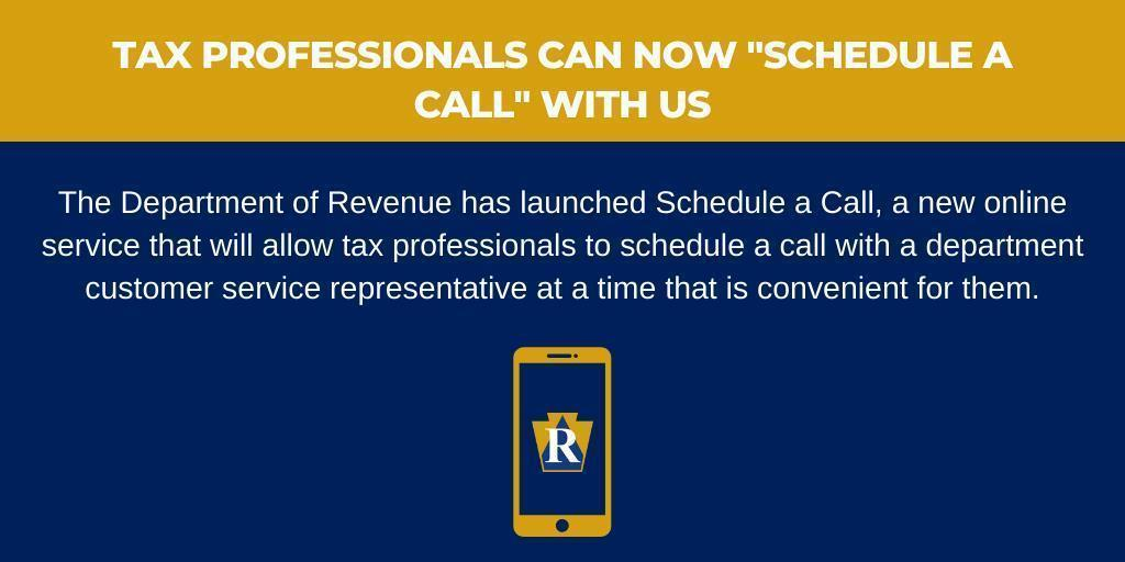 "Tax Professionals Can Now ""Schedule a Call"" With Us"